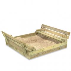 Bac à sable SandSeat avec couvercle rabattable