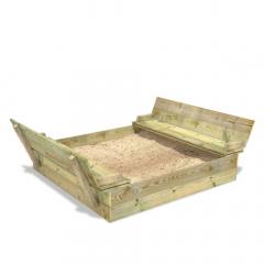 Bac à sable SandSeat XL avec couvercle rabattable